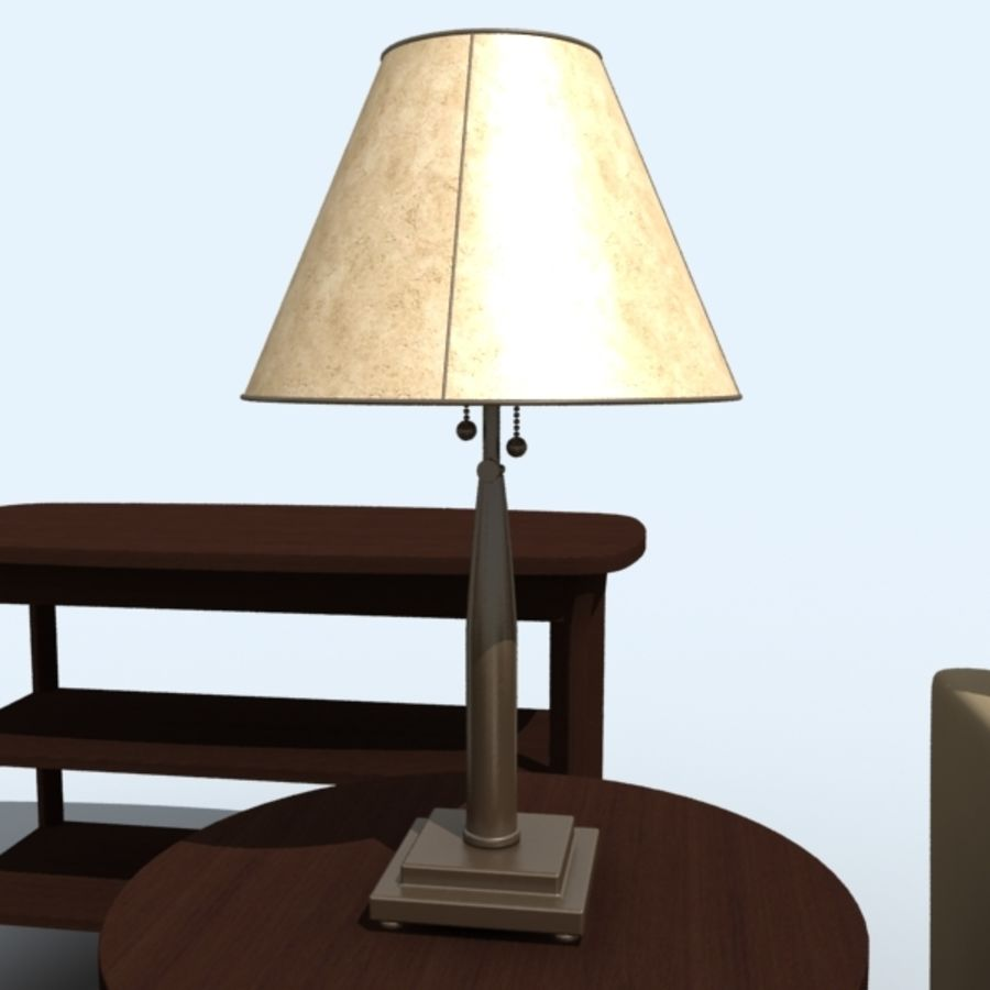 living_room_set_a royalty-free 3d model - Preview no. 2