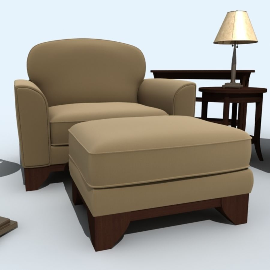 living_room_set_a royalty-free 3d model - Preview no. 10