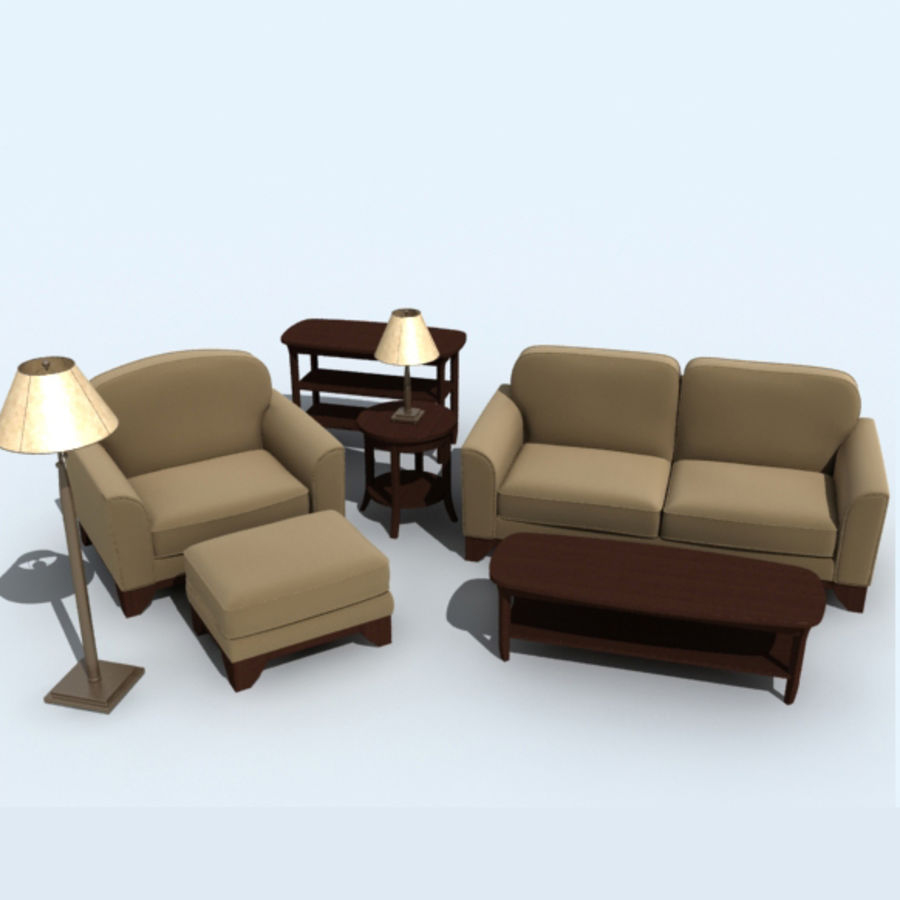 living_room_set_a royalty-free 3d model - Preview no. 1