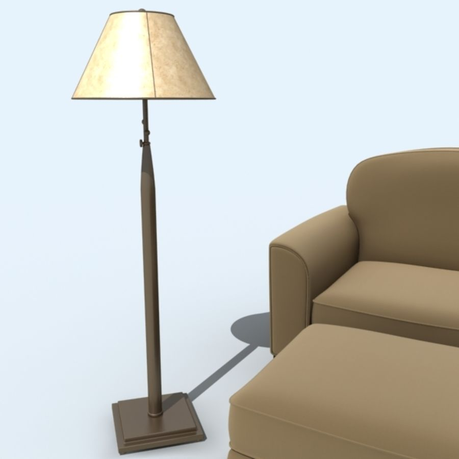 living_room_set_a royalty-free 3d model - Preview no. 11