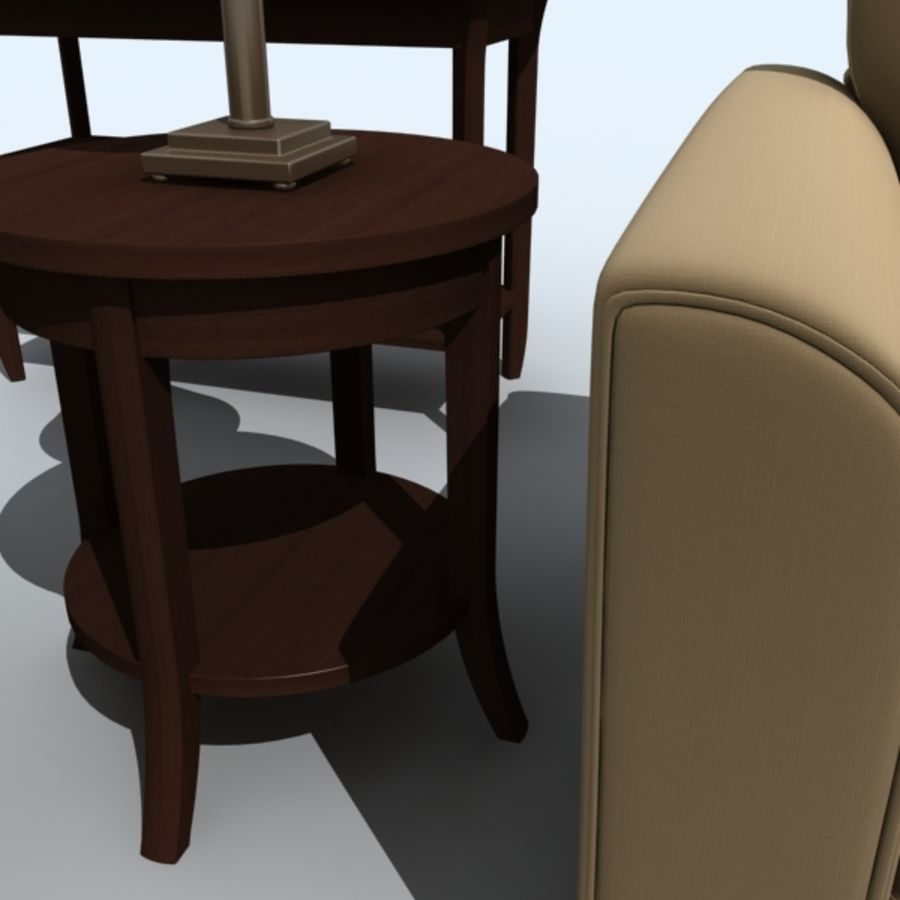 living_room_set_a royalty-free 3d model - Preview no. 6