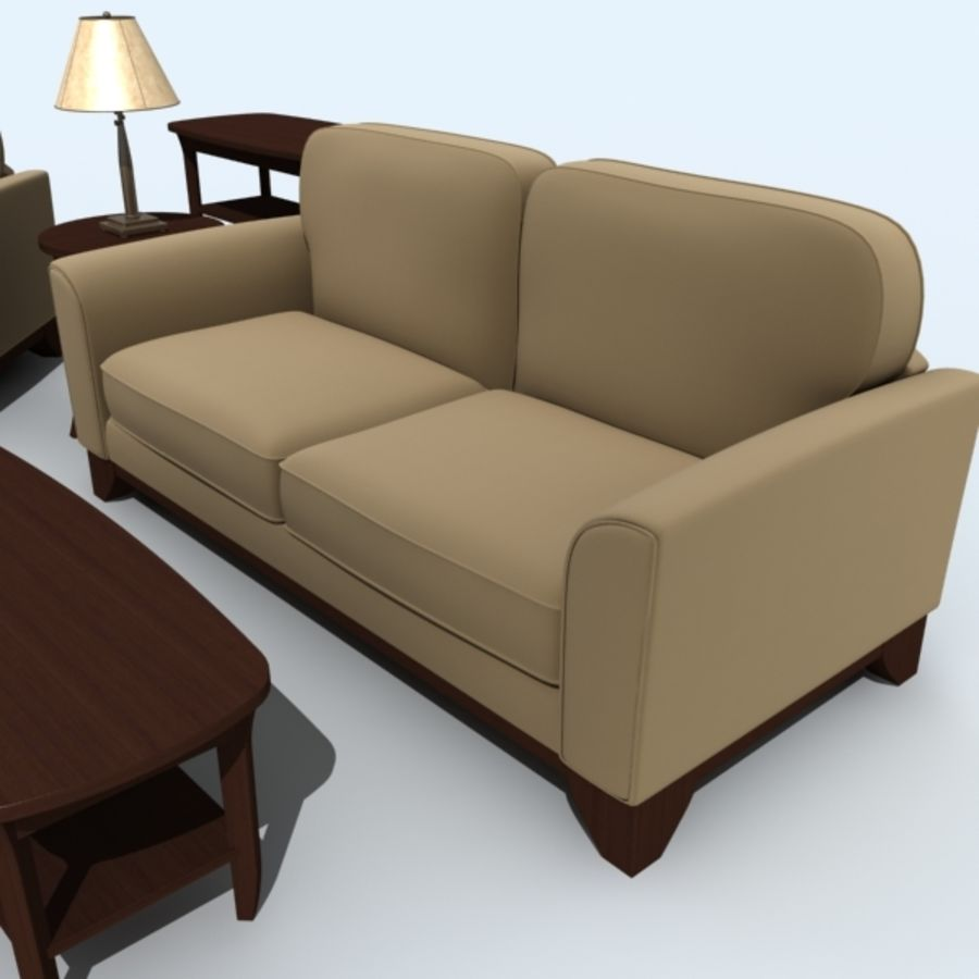 living_room_set_a royalty-free 3d model - Preview no. 9