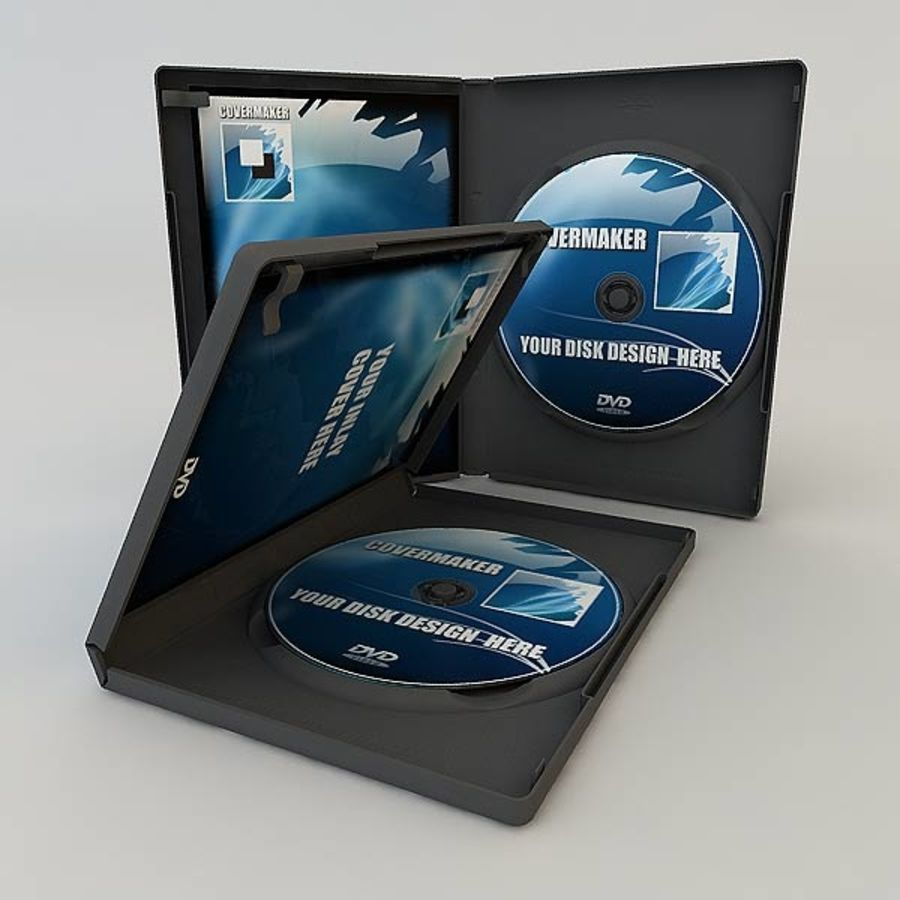 DVD Case royalty-free 3d model - Preview no. 14