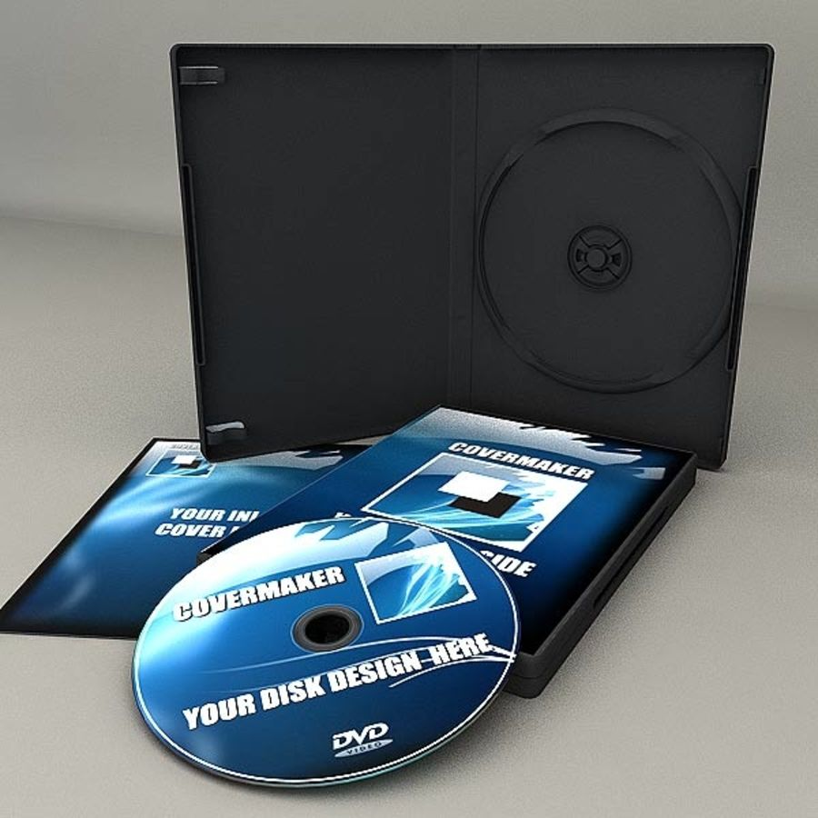 DVD Case royalty-free 3d model - Preview no. 3