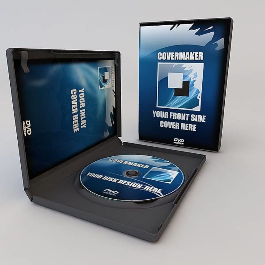 DVD Case royalty-free 3d model - Preview no. 15