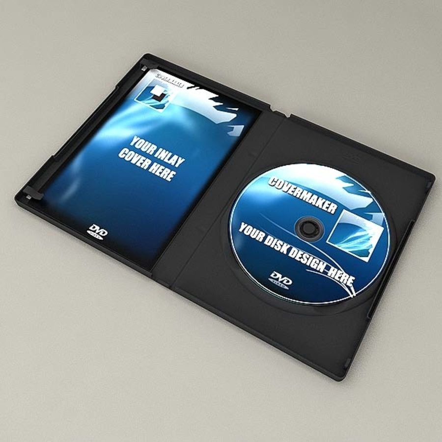 DVD Case royalty-free 3d model - Preview no. 4