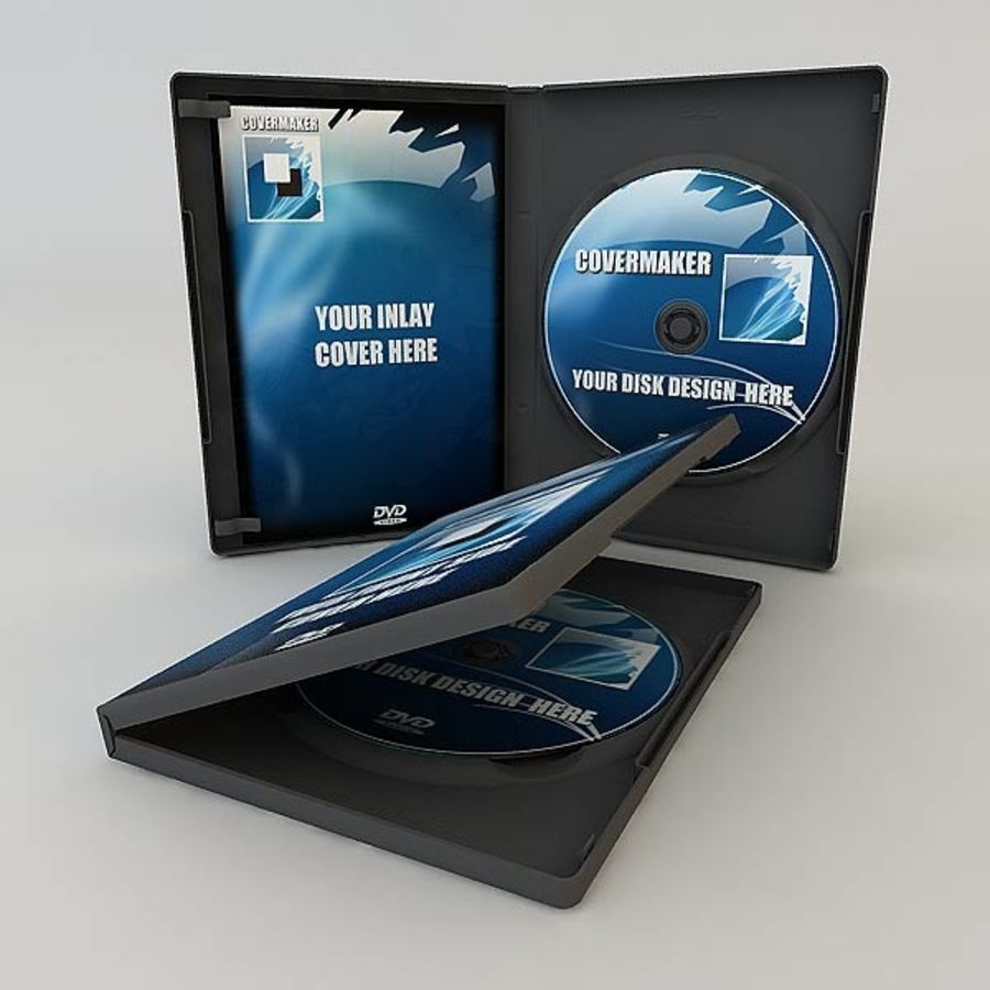 DVD Case royalty-free 3d model - Preview no. 13