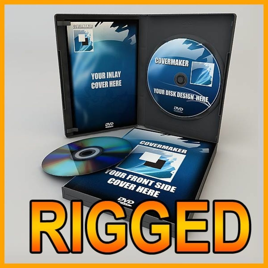 DVD Case royalty-free 3d model - Preview no. 1