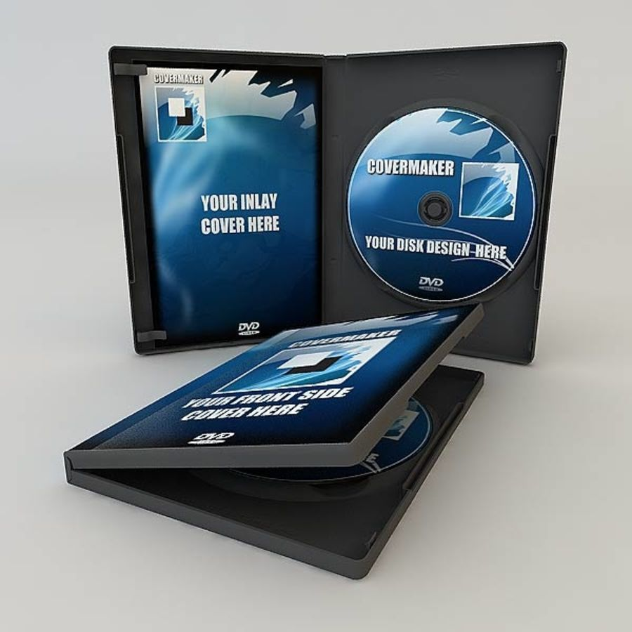DVD Case royalty-free 3d model - Preview no. 12