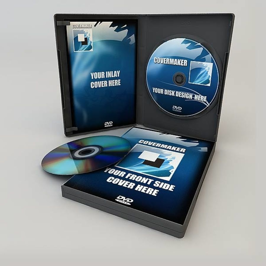 DVD Case royalty-free 3d model - Preview no. 10