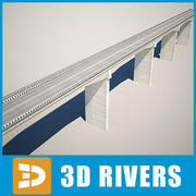 Reinforced concrete bridge by 3DRivers 3d model