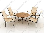 Bali Patio Set - High Quality Furniture 3d model 3d model