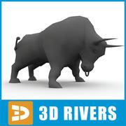 Gul tjur av 3D Rivers 3d model