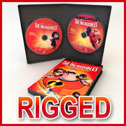 DOUBLE DVD CASE and DISK 3d model