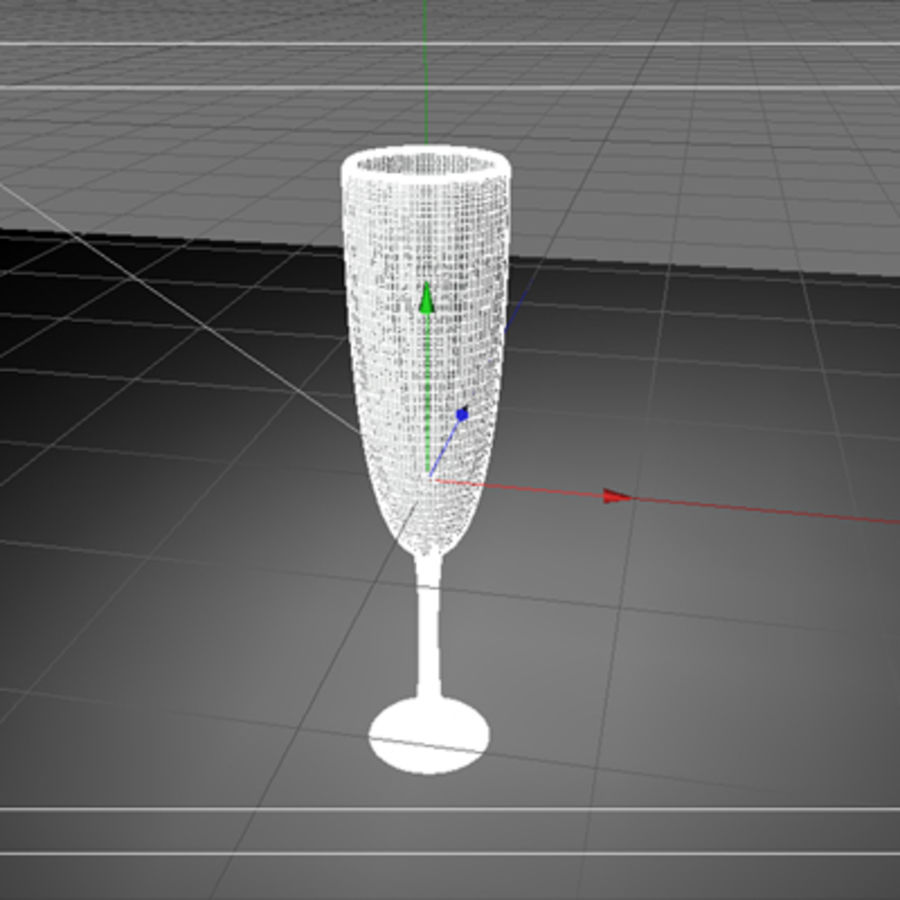 champagne glass royalty-free 3d model - Preview no. 2
