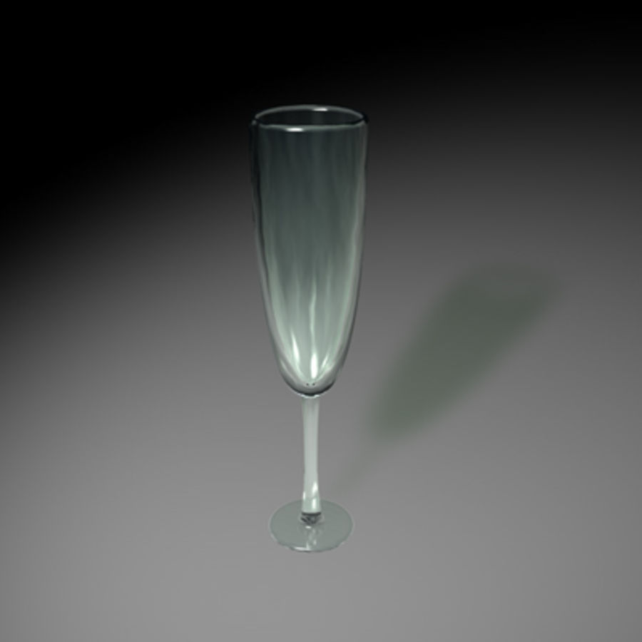 champagne glass royalty-free 3d model - Preview no. 1
