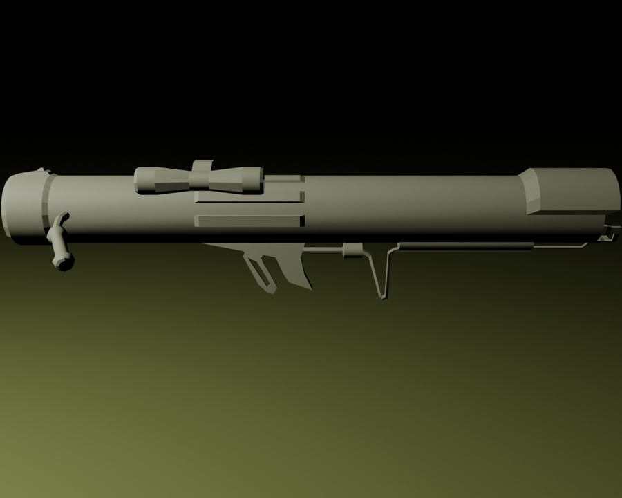 Modern Arsenal - Rocket Launcher royalty-free 3d model - Preview no. 4
