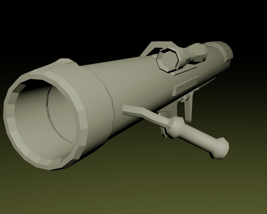 Modern Arsenal - Rocket Launcher royalty-free 3d model - Preview no. 3