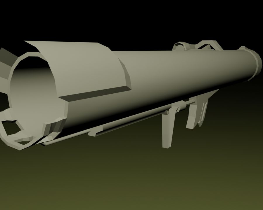 Modern Arsenal - Rocket Launcher royalty-free 3d model - Preview no. 2