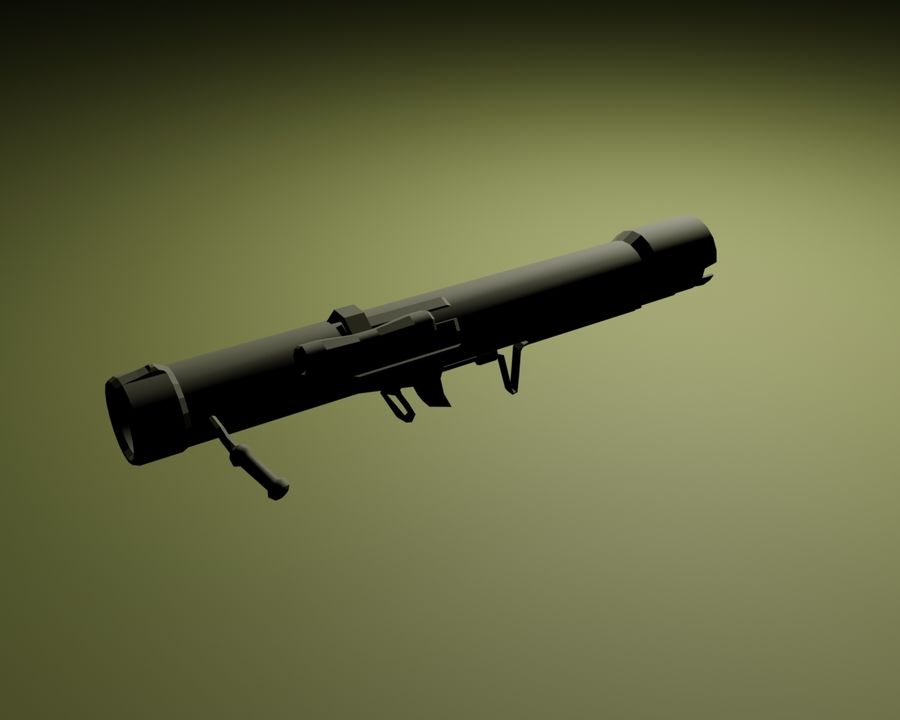 Modern Arsenal - Rocket Launcher royalty-free 3d model - Preview no. 1