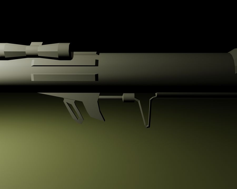 Modern Arsenal - Rocket Launcher royalty-free 3d model - Preview no. 5