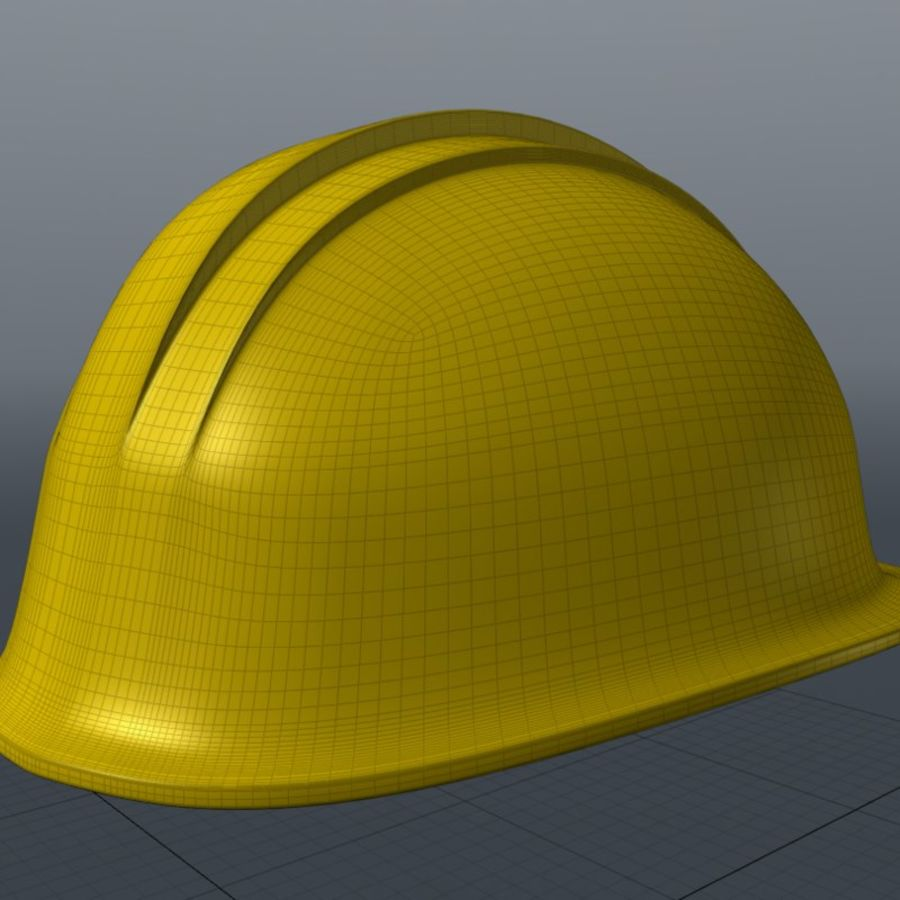 Security Helmet royalty-free 3d model - Preview no. 3
