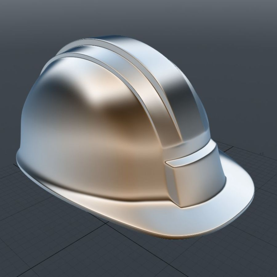 Security Helmet royalty-free 3d model - Preview no. 4
