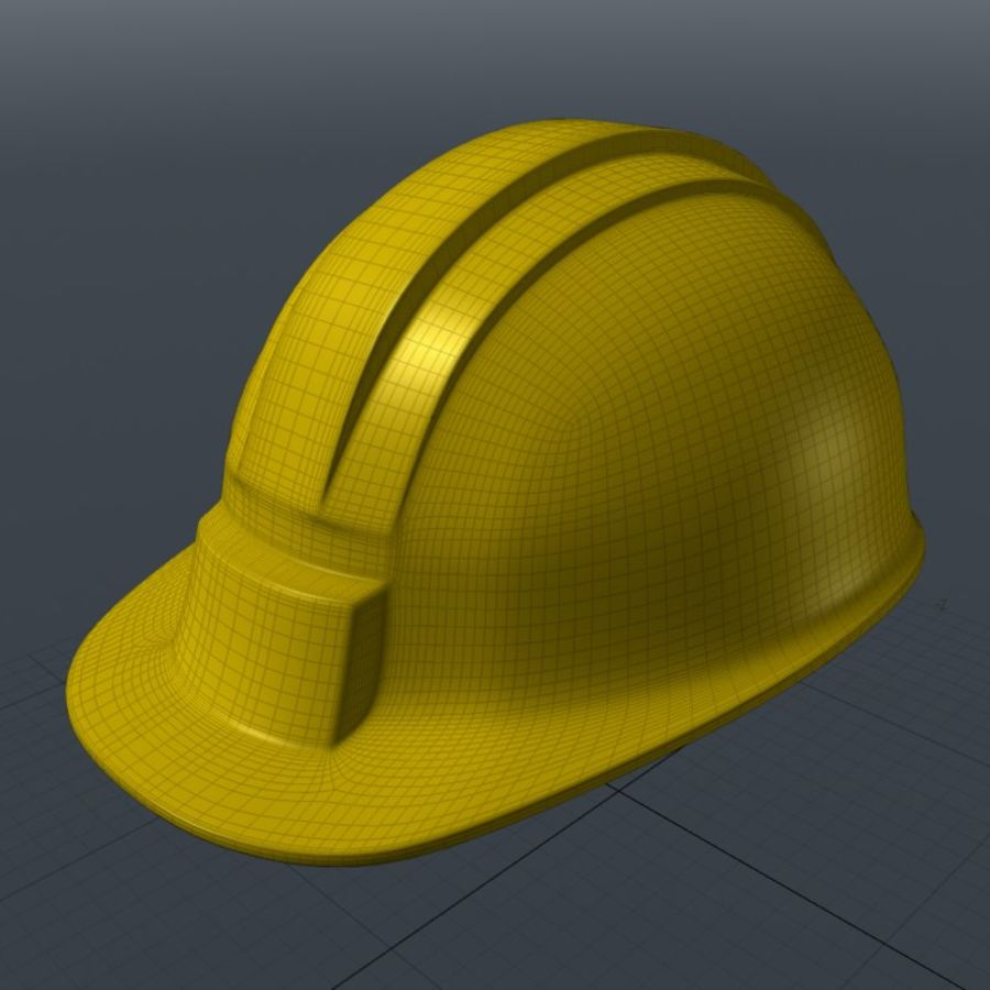 Security Helmet royalty-free 3d model - Preview no. 2