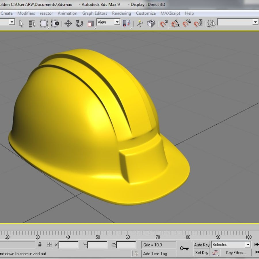 Security Helmet royalty-free 3d model - Preview no. 6