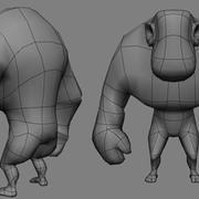 LOW POLYGON GORILLA HUMANOID 3d model