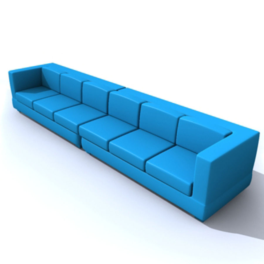 sofa royalty-free 3d model - Preview no. 1