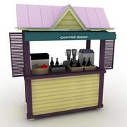 커피 숍 - 고품질 3D 모델 3d model