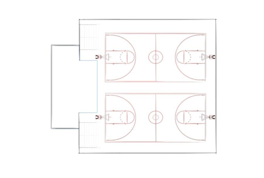Тренажерный зал royalty-free 3d model - Preview no. 3