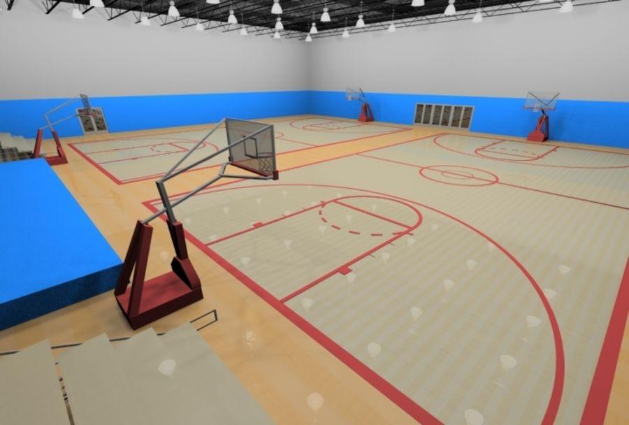 Тренажерный зал royalty-free 3d model - Preview no. 2