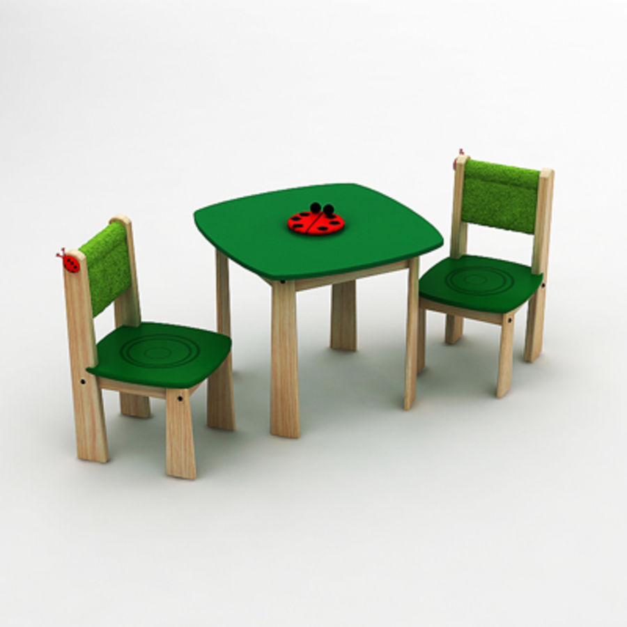 Toy tea table by 3DRivers royalty-free 3d model - Preview no. 3