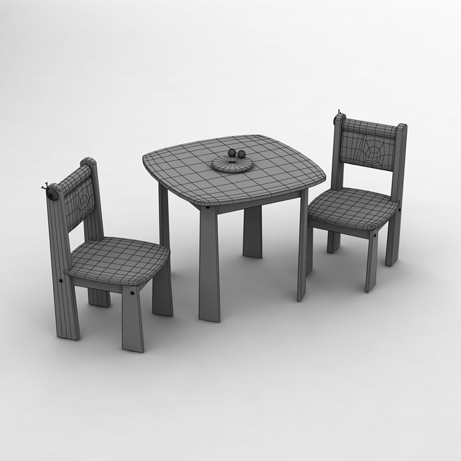 Toy tea table by 3DRivers royalty-free 3d model - Preview no. 2