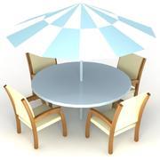 Zestaw krzeseł ogrodowych - Wysokiej jakości meble 3D 3d model