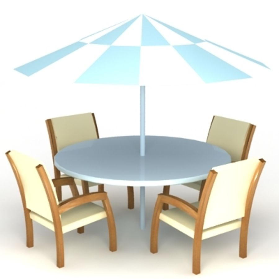 Ensemble de chaises de table de jardin - Modèle 3d de ...