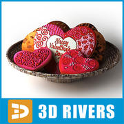 Valentines cookies by 3DRivers 3d model
