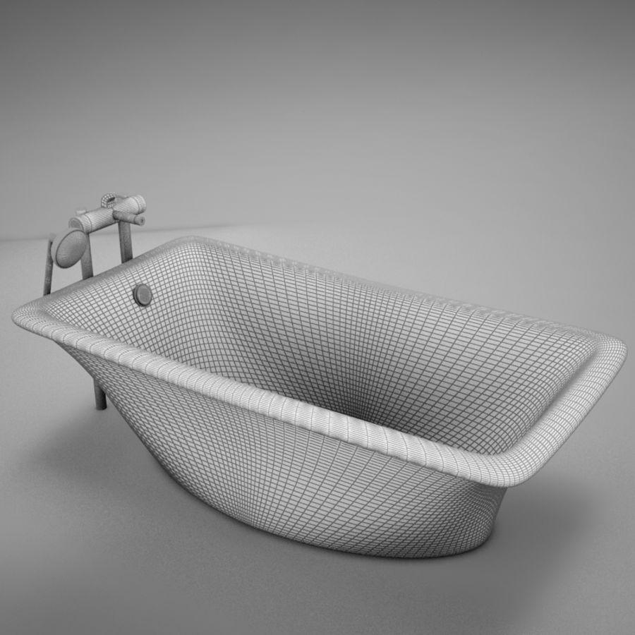 온건 한 고전적인 온수 욕조 royalty-free 3d model - Preview no. 12