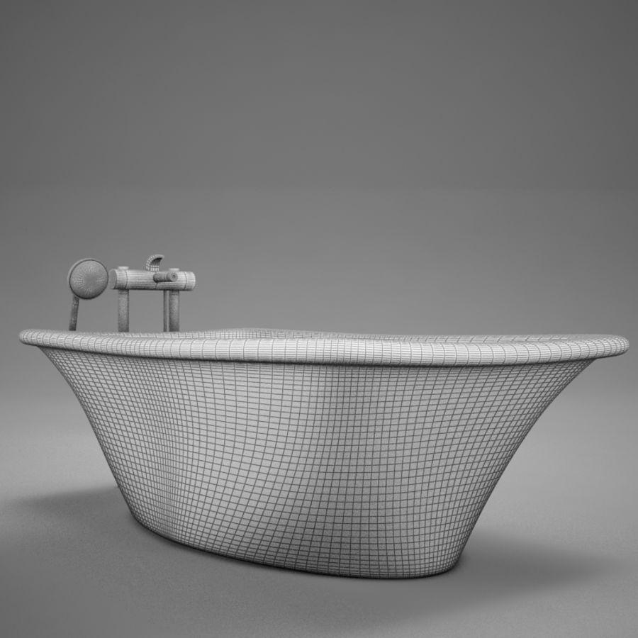 온건 한 고전적인 온수 욕조 royalty-free 3d model - Preview no. 13
