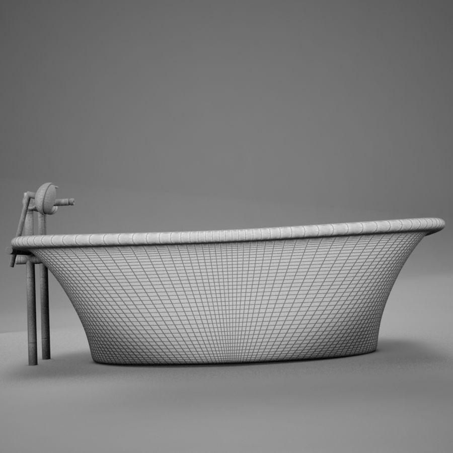 온건 한 고전적인 온수 욕조 royalty-free 3d model - Preview no. 16