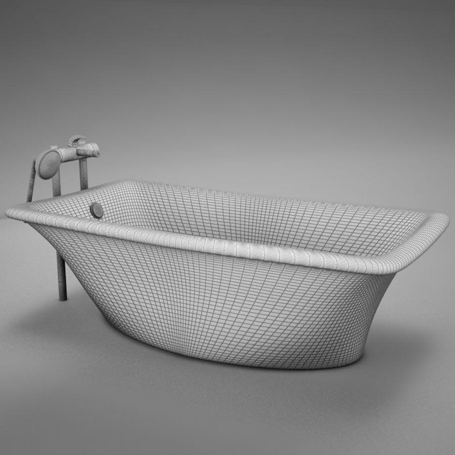 온건 한 고전적인 온수 욕조 royalty-free 3d model - Preview no. 15