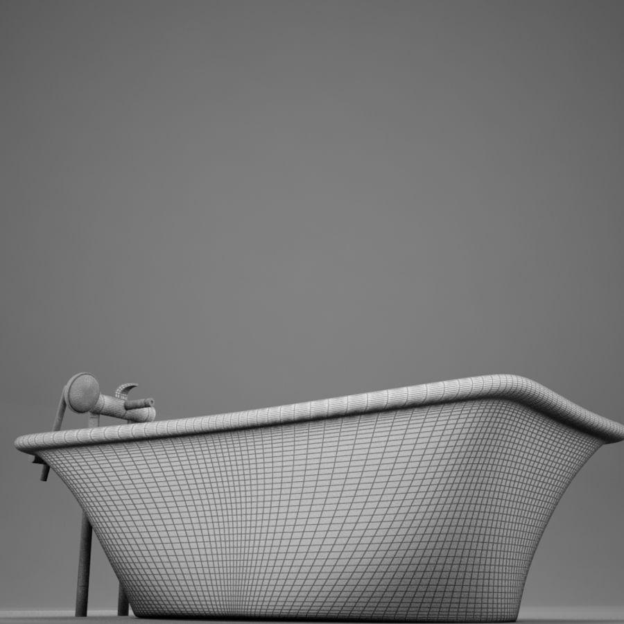 온건 한 고전적인 온수 욕조 royalty-free 3d model - Preview no. 19