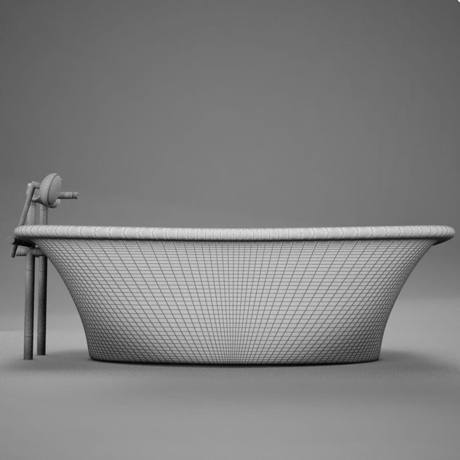 온건 한 고전적인 온수 욕조 royalty-free 3d model - Preview no. 17