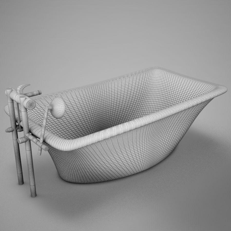 온건 한 고전적인 온수 욕조 royalty-free 3d model - Preview no. 18