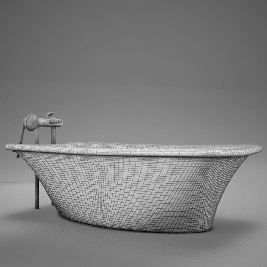 온건 한 고전적인 온수 욕조 royalty-free 3d model - Preview no. 11