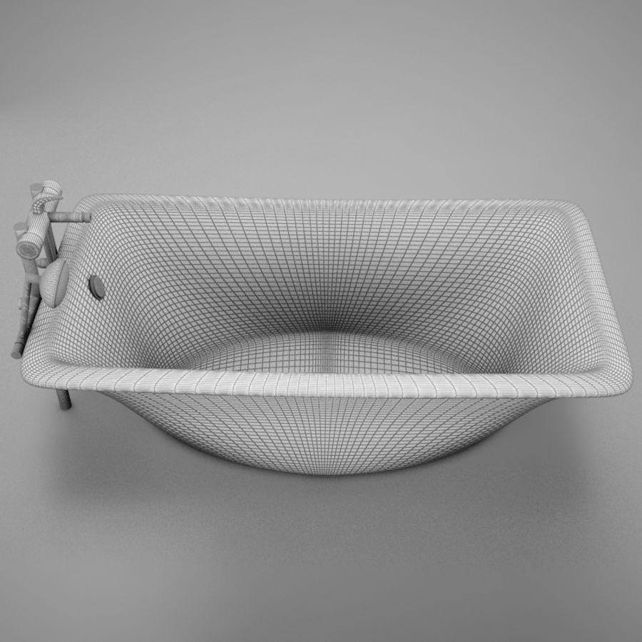 온건 한 고전적인 온수 욕조 royalty-free 3d model - Preview no. 20