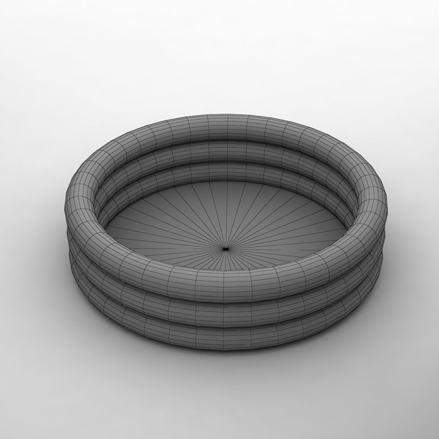 Inflatable pool by 3DRivers royalty-free 3d model - Preview no. 2