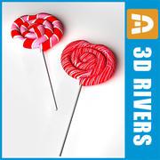 Valentine Day Lollipops 02 de 3DRivers modelo 3d